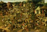 Pieter Brueghel der Jüngere - Fair with a Theatrical Performance, 1562