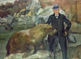 Lovis Corinth - Carl Hagenbeck (1844-1913) in His Zoo, 1911