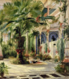 Karl Blechen - Interior of the Palm House at Potsdam, 1833
