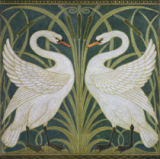 Walter Crane - 'Swan, Rush and Iris' wallpaper design