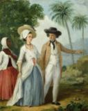 Agostino Brunias - A Planter and his Wife, Attended by a Servant, c.1780