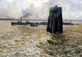 Graf Leopold Karl Walter von Kalckreuth - The Port of Hamburg, 1894