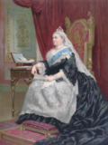 English School - Portrait of Queen Victoria (1819-1901) at the time of her Golden Jubilee in 1887, 1887