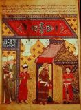 Persian School - Ms. Supp. Pers. 1113 fol.239 Pavilion tents erected by Ghazan Khan in 1302, from a book by Rashid ad-Din (1247-1318)