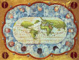 Battista Agnese - Map tracing Magellan's world voyage, once owned by Charles V, 1545