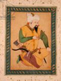 Persian School - A Turkoman or Mongol Chief holding an Arrow, from the Large Clive Album, 1591-92