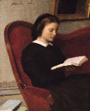 Ignace Henri Jean Fantin-Latour - The Reader, 1861