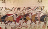 French School - Bishop Odo Holding a Baton Urges on the Young Soldiers, from The Bayeux Tapestry