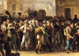 Louis-Léopold Boilly - The Conscripts of 1807 Marching Past the Gate of Saint-Denis, detail of the conscripts