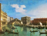 Giovanni Antonio Canaletto - The Rialto Bridge, Venice