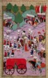 Islamic School - TSM H.1524 'Hunername': The Army of Suleyman the Magnificent (1494-1566) Leave for Europe, from the 'Book of Excellence' by Lokm