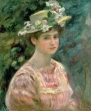 Pierre Auguste Renoir - Girl with Eglantines on her Hat, c.1896