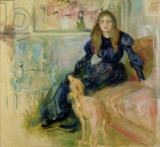 Berthe Morisot - Julie Manet (1878-1966) and her Greyhound Laerte, 1893
