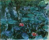 Claude Monet - Waterlilies with Reflections of a Willow Tree, 1916-19