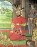 Islamic School - The Reception for the Ambassador of the Grand Moghul at the Court of the Shah Tahmasp, detail of the king