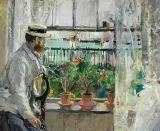 Berthe Morisot - Eugene Manet (1834-92) on the Isle of Wight