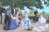 Jean Frederic Bazille - Family reunion, 1867