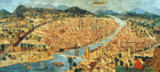 Italian School - The 'Carta della Catena' showing a panorama of Florence, 1490