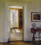 Carl Holsoe - Interior with Garden