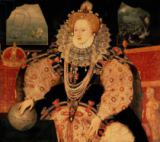 English School - Elizabeth I, Armada portrait, c.1588