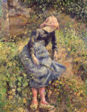 Camille Pissarro - Girl with a Stick, 1881