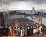 French School - Procession of the Brotherhood of Saint-Michel in 1615