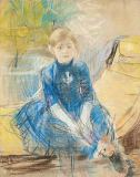 Berthe Morisot - Little Girl with a Blue Jersey, 1886