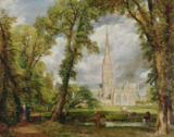 John Constable - View of Salisbury Cathedral from the Bishop's Grounds,  c.1822