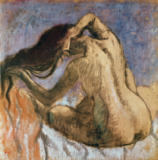 Edgar Degas - Woman Combing her Hair, 1905-10