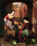 Gerrit or Gerard Dou - The Vegetable Seller