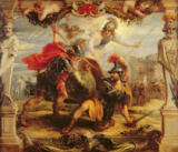 Peter Paul Rubens - Achilles Defeating Hector, 1630-32