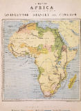 English School - A Map of Africa to Illustrate the Travels of David Livingstone (1813-73), Henry Morton Stanley (1841-1904) and Verney Lovett Cam