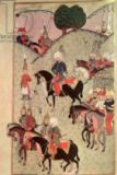 Turkish School - TSM H.1339 Sultan Selim II (1524-74) riding between Kotahia and Belgrade to rejoin the Imperial Army, 1584-89