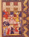 Persian School - Fol.5r Initiation dance, from a book of poems by Hafiz Shirazi (c.1325-c.1388)