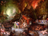 Jan Brueghel der Ältere - Aeneas and the Sibyl in the Underworld, 1598