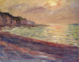 Claude Monet - The Beach at Pourville, Setting Sun, 1882
