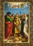 Raphael - St. Cecilia surrounded by St. Paul, St. John the Evangelist, St. Augustine and Mary Magdalene, c.1513