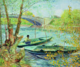 Vincent van Gogh - Fishing in the Spring. Pont de Clichy, 1887
