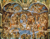 Michelangelo Buonarroti - Last Judgement, from the Sistine Chapel, 1538-41