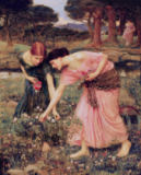 John William Waterhouse - 'Gather Ye Rosebuds While Ye May', 1909