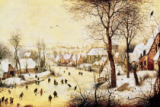 Winter Landscape with Skaters and a Bird Trap, 1565 of Pieter Brueghel der Ältere