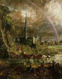 John Constable - Salisbury Cathedral From the Meadows, 1831 (detail of 1560)