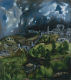 El Greco - Detail of View of Toledo, c.1597-99