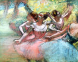 Edgar Degas - Four ballerinas on the stage