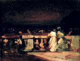 Charles Edward Conder - Watching the Fireworks, St. Cloud  c.1893