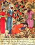 Islamic School - Fol.101 A Woman Beseeching the Sultan, from 'The Book of Kalila and Dimna' from 'The Fables of Bidpay'