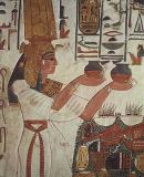 Egyptian 19th Dynasty - Nefertari Making an Offering, from the Tomb of Nefertari