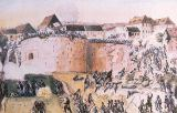 Hungarian School - The Hungarian Revolution of 1848: Austrian troops assault the Buda Castle on 21st May 1849