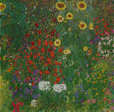 Gustav Klimt - Farm Garden with Flowers  c.1906