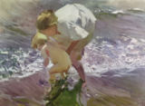 Joaquin Sorolla y Bastida - Bathing on the Beach, 1908